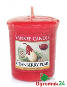 YANKEE CANDLE CRANBERRY PEAR SAMPLER ŚWIECA ZAPACH