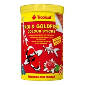 TROPICAL KOI&GOLDFISH COLOUR STICKS 1000ML/90G