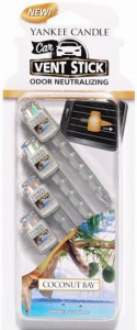 YANKEE CANDLE CAR VENT STICK COCONUT BAY ZAPACH DO AUTA