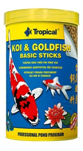 TROPICAL KOI&GOLDFISH BASIC STICKS 1000ML/90G