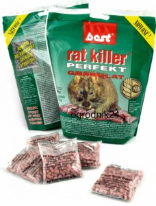 BEST RAT KILLER PERFECT 240G GRANULAT TRUTKA NA MYSZY TOREBKA W-WA