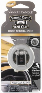 YANKEE CANDLE CAR VENT CLIP NEW CAR ZAPACH DO AUTA