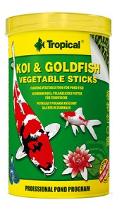TROPICAL KOI&GOLDFISH VEGET STICKS 1L