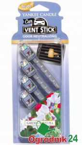 YANKEE CANDLE CAR VENT STICK GARDEN SWEET PEA SAMOCHODOWY