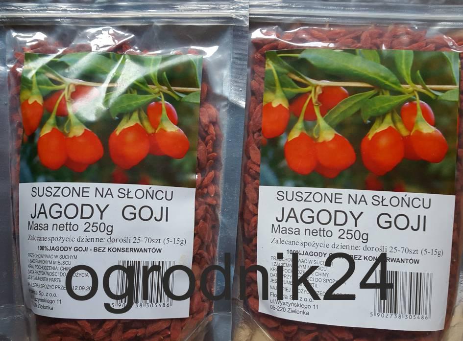 Suszone na s o cu jagody goji 2x250g 0 5kg for Jagody goji w tabletkach