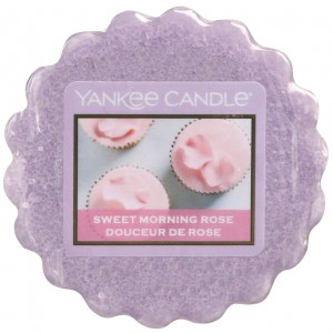 Yankee Candle wosk Sweet Morning Rose ciasteczko i róża