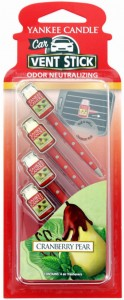Car vent stick zapach do kratki auta Cranberry Pear Yankee Candle