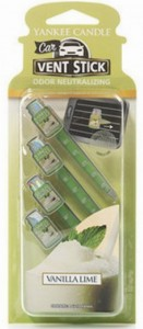 YANKEE CANDLE CAR VENT STICK VANILLA LIME ZAPACH DO AUTA