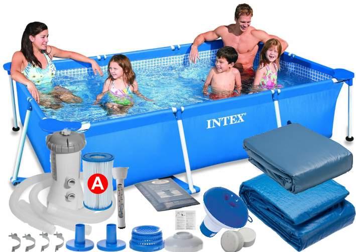 Swimming pool gartenschwimmbad cm set in intex