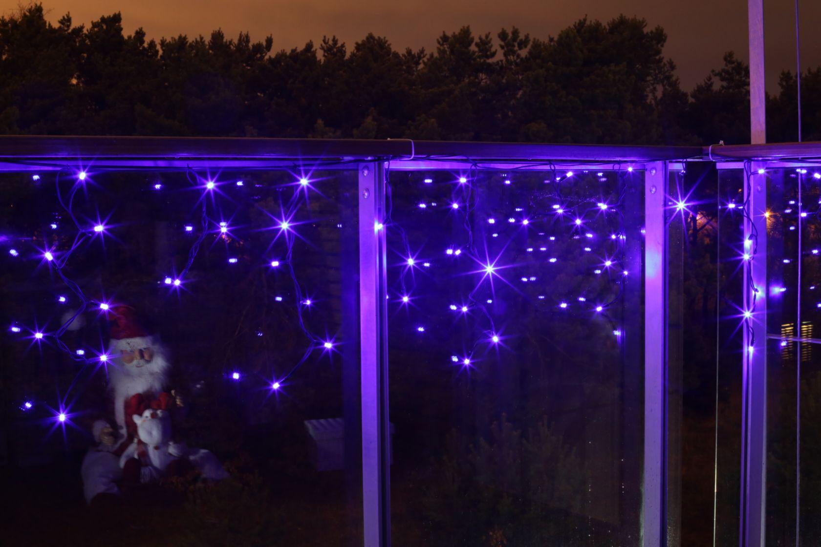 Kurtynka Sople Led 60l Zewnętrzne Lampki Niebieskie 3m 38 616