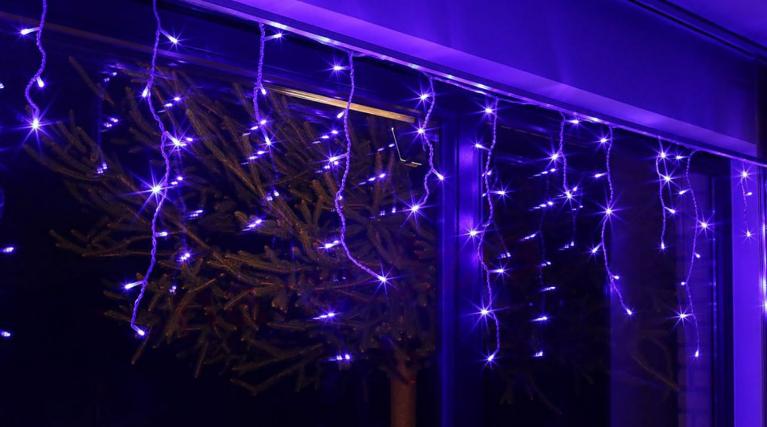 Lampki Kurtyna Sople Led 60l Niebieskie 20 096 Zewnętrzne
