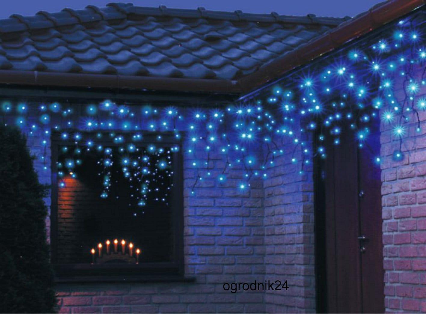 Kurtynka Led 200l Lampki Zewnętrzne Niebieskie 38 666 Sople