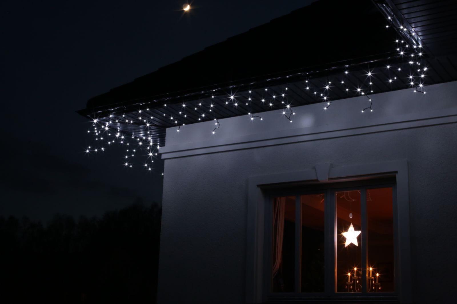 Lampki Sople Led Białe Flesz 100l Zewnętrzne 38 332 Atest W Wa