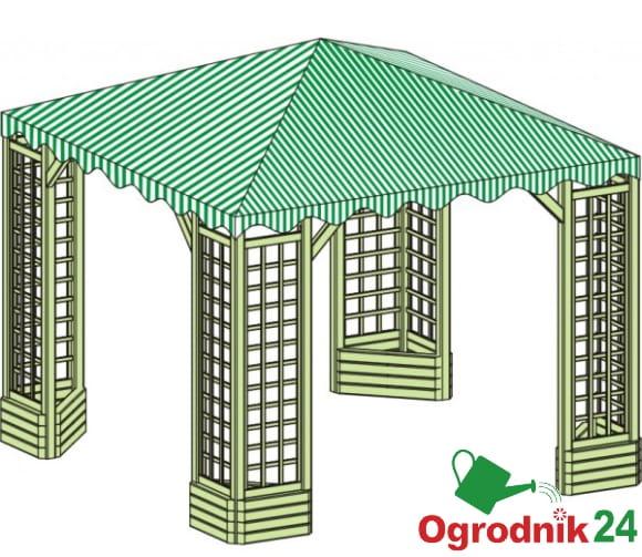 Altana Ela Altanka Ogrodowa Pawilon 3x3m Dach Materiałowy W Wa