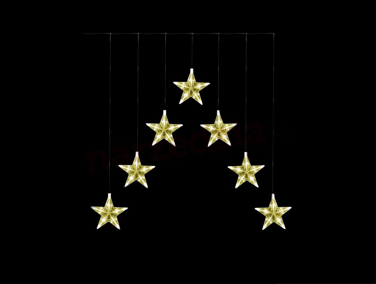 Lampki Led Kurtynka Gwiazdki Biały Ciepły 12m 21 628 Ozdoba Okienna Okno